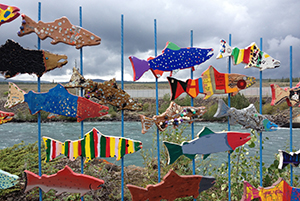 Whitehorse, yukon, art installation, fish