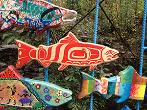 Yukon, first nations, art, fish rapids, salmon